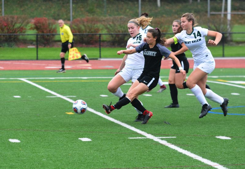 TIMES FILE PHOTO - Jesuit senior Katie Duong absolutely crushed the Oregon High School scene both scoring and passing the ball.