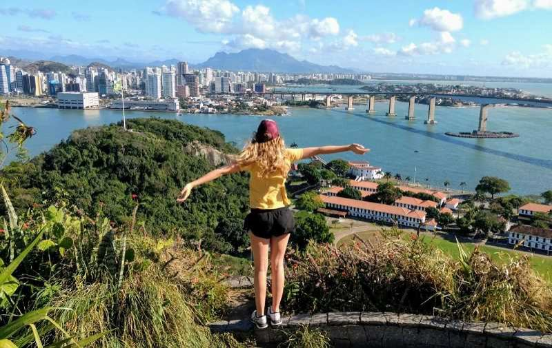 SUBMITTED PHOTO: JANE FILIAULT - Lake Oswego student Jane Filiault on exchange in Brazil last summer. To keep this program going, Rotary is looking for a host family in LO for an exchange student from Guatemala.