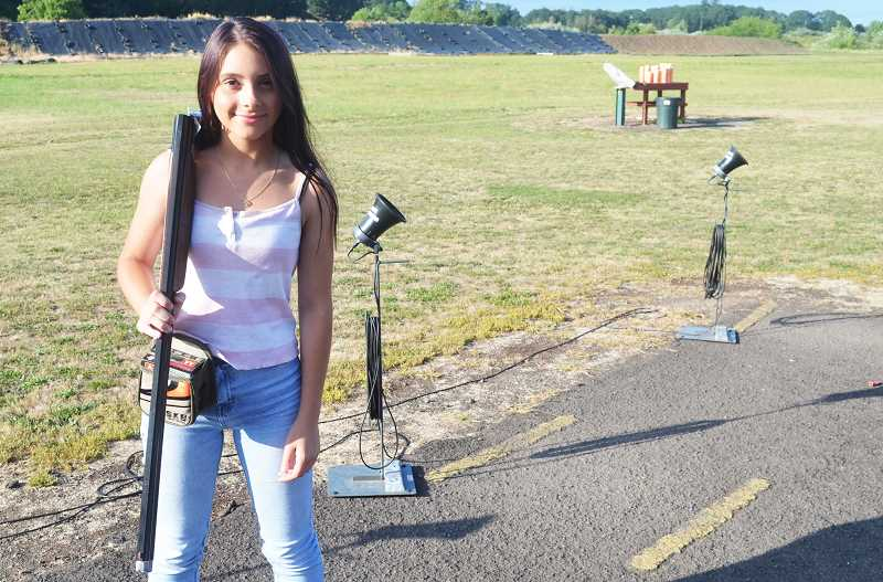 PMG PHOTO: DEREK WILEY - Issabella Berge trains at the Canby Rod & Gun Club every Tuesday and Thursday.