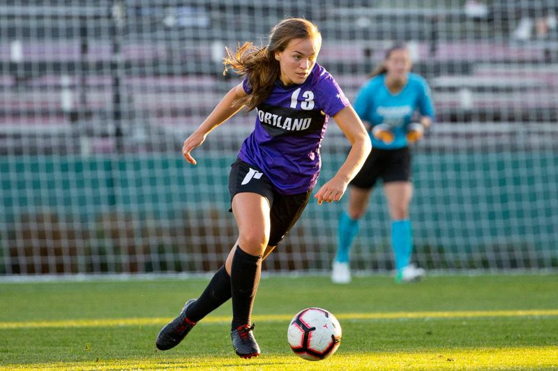 COURTESY: UNIVERSITY OF PORTLAND - Natalie Muth, a senior midfielder from Scappoose High, is one of several returning Portland Pilots players for coach Michelle Frenchs second season at the helm.