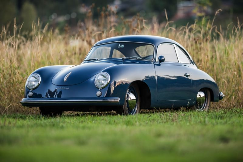 COURTESY PHOTO: DOUG NAEF - This azure blue 1953 Porsche 356, owned by Doug Naef of Milwaukie, will be among the classic cars featured at the Forest Grove Concours d'Elegance.