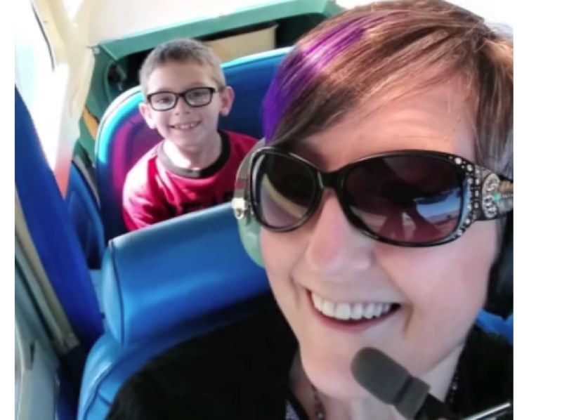 COURTESY PHOTOS - Debbie Reasoner and her 7-year-old son Jase were the only two passengers being piloted by Dean Sawyer, the mayor of Newport, prior to the July 8 plane crash.
