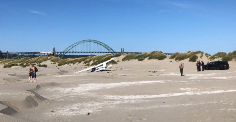 An Oregon City business owner was severely injured when a plane crashed on July 8 into the beach south of Newport.