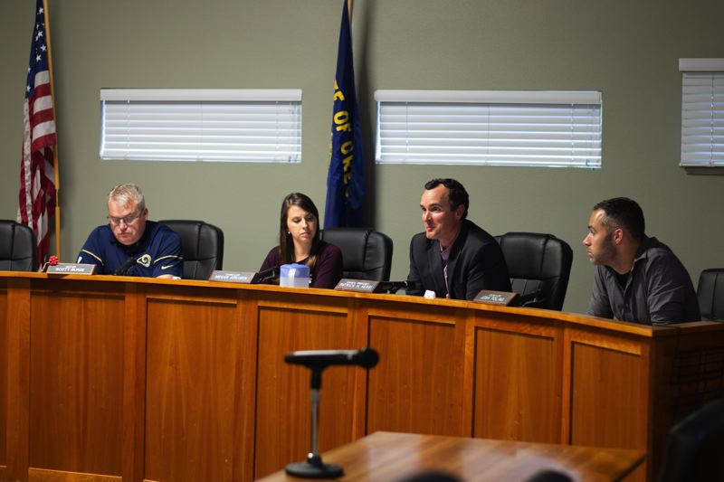PMG PHOTO: ANNA DEL SAVIO - The Scappoose city council unanimously approved the creation of an Urban Renewal Agency on Monday, July 15. The council first heard a motion to establish the agency in May.
