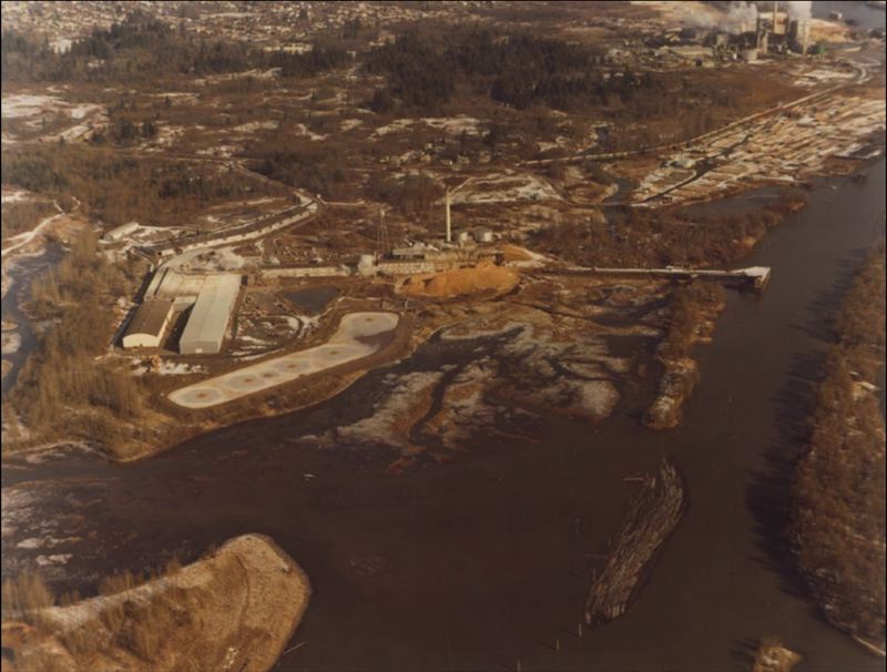 OREGON DEPARTMENT OF ENVIRONMENTAL QUALITY - Kaiser Gypsum operations in St. Helens in 1970. Kaiser Gypsum owned the fiberboard plant from 1956 to 1978, followed by Owens Corning.