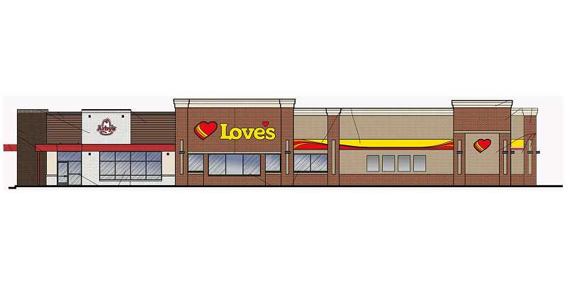SUBMITTED ILLUSTRATION - The building permits for the Love's Travel Stop are approved, and the company is moving forward, with the project, which is one of several projects under development in Madras.