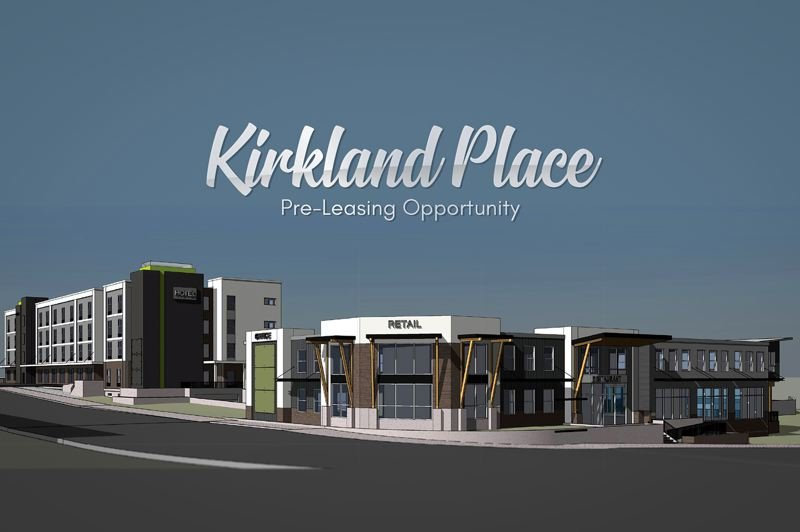COURTESY OTAK INC. - A schematic of Kirkland Place, a development in northwest Beaverton that combines an 89-room extended-stay hotel by Hilton with two retail buildings at Northwest Barnes Road and 118th Avenue. The Beaverton Planning Commission approved the project July 10.