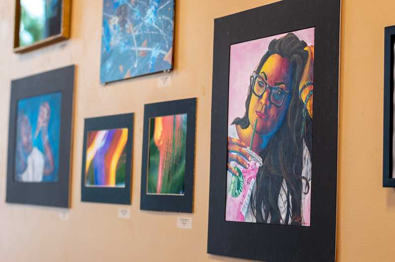 PMG PHOTO: CLARA HOWELL  - Alexis Leon-Guerrero used her younger sister as her primary muse for her acrylic paintings.