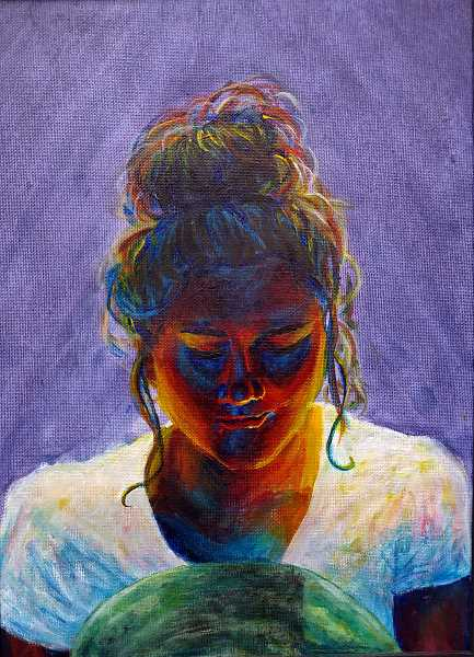 COURTESY PHOTO  - Alexis Leon-Guerrero created this painting use light coming from behind the subject.