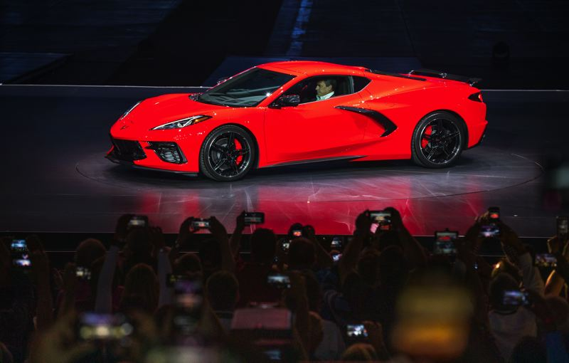 COURTESY CHEVROLET - Breaking with tradition stretching back to 1953, the new Corvette uses a mid-engine design similar to exotic supercars such as Ferrari, McLaren, and Bugatti.