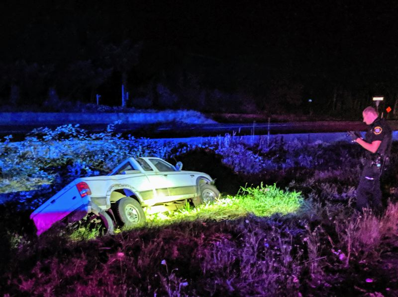 COURTESY WCSO - The Ford Ranger in the ditch after the crash.