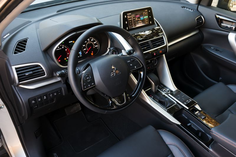 COURTESY MITSUBISHI - The interior of the 2019 Mitsubishi Eclipse Cross is thorougjhly up to dates and features higher quality materials than expected. Almost all advanced technologies are available.