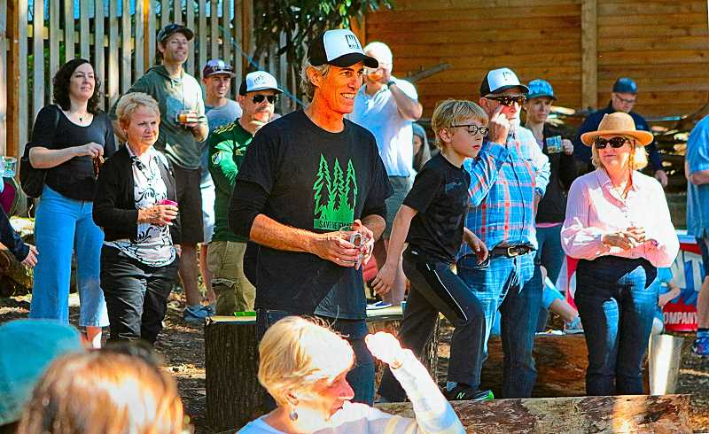 DAVID F. ASHTON - Arthur Bradford announced that the organization he heads had reached its fundraising goal - being able to buy the land on which the Giant Trees grow.