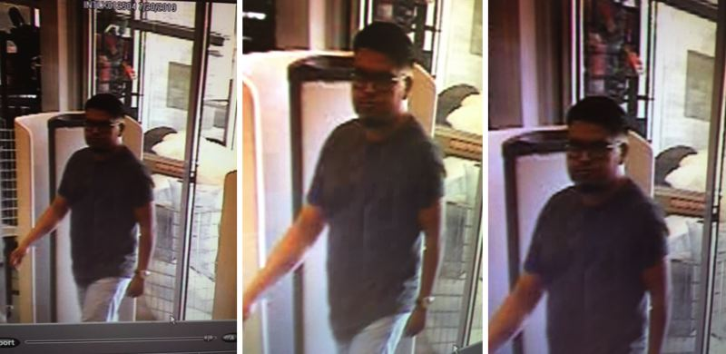 VIA BEAVERTON PD - Police are searching for a man who was allegedly taking invasive photos of a female customer inside a Nordstrom Rack in Beaverton.