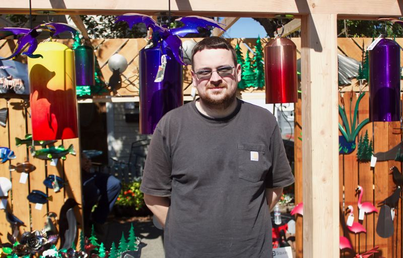 PMG PHOTO: CHRISTOPHER KEIZUR - Ethan Davis, a sculpture who lives in Gresham, hosted a booth for the fifth year.
