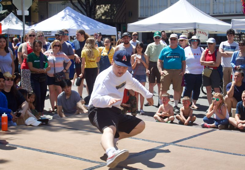 PMG PHOTO: CHRISTOPHER KEIZUR - Talented break-dancers from across the west coast visited downtown Gresham to take part in the Breakin on Main contest.