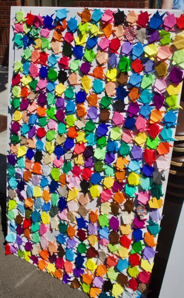 PMG PHOTO: CHRISTOPHER KEIZUR - Volunteers made a total of 1,064 origami turtles to claim the record.