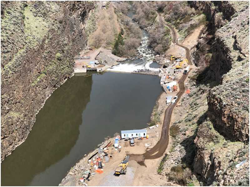 SUBMITTED PHOTO - The Crooked River Watershed Council has been involved with the ongoing dam project on the Crooked River west of Culver, helping to fund the Deschutes Valley Water District project that will both produce more electricity and better protect fish.