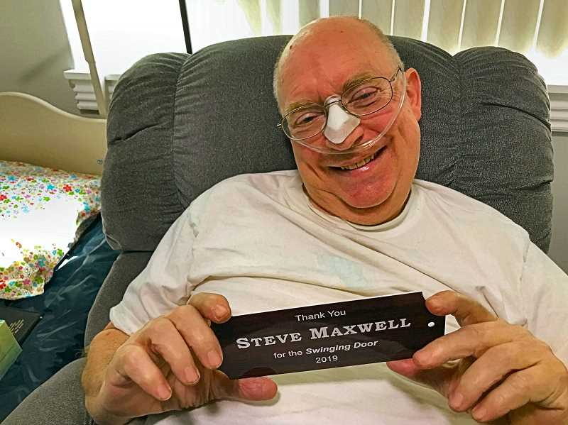 ELIZABETH USSHER GROFF - Woodstock resident Steve Maxwell, now stricken with ALS, had used the Woodstock Laundry for forty years when he decided to make his generous offer.