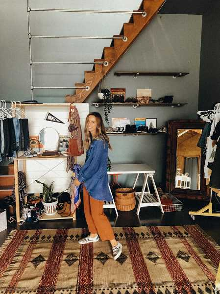 COURTESY PHOTO: BAILEY MCKAY - McKay in her pop up thrift shop.
