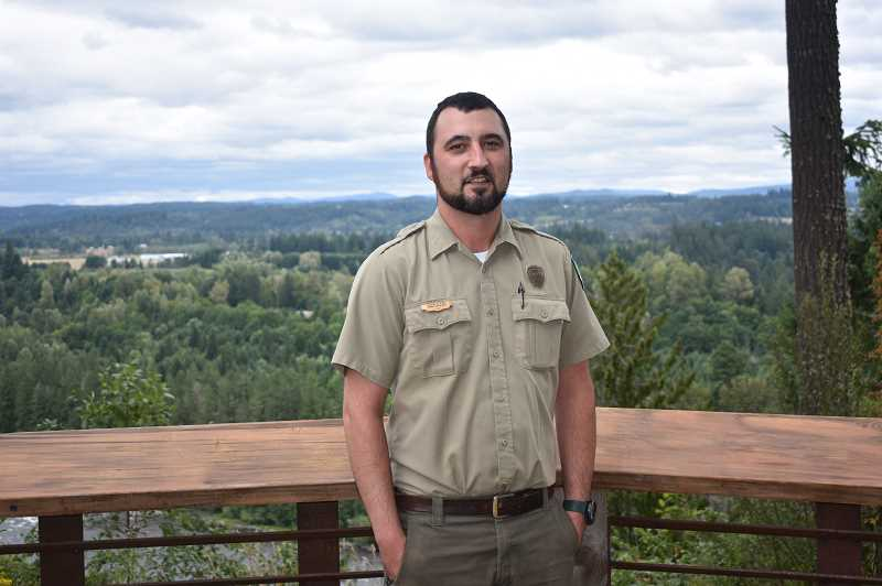 PMG PHOTO: EMILY LINDSTRAND - Jason Elkins has served as been park manager at Milo McIver State Park since May.