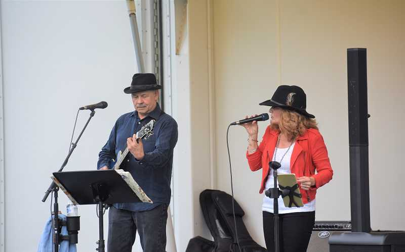 PMG PHOTO: EMILY LINDSTRAND - During a concert at Wade Creek Park last week, the Red Hots played a variety of R&B songs.