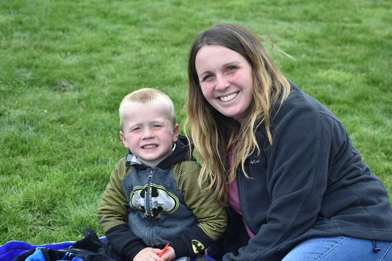 PMG PHOTO: EMILY LINDSTRAND - Estacada residents of all ages enjoyed a concert at Wade Creek Park last Wednesday.