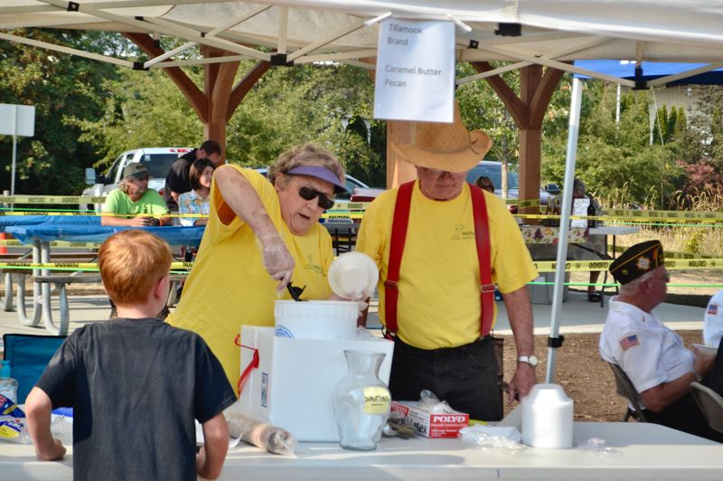PMG FILE PHOTO - Volunteers from several local nonprofit groups will serve ice cream Aug. 9 at Boring Station Trailhead Park.