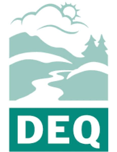 STATE OF OREGON - The Oregon Department of Environmental Quality logo.