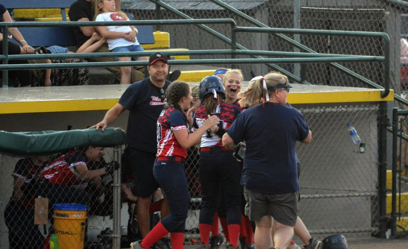 TIMES PHOTO: MATT SINGLEDECKER - The Willow Creek all-star team defeated South Beaverton in the District Four title game last week to advance to the Little League Softball World Series.