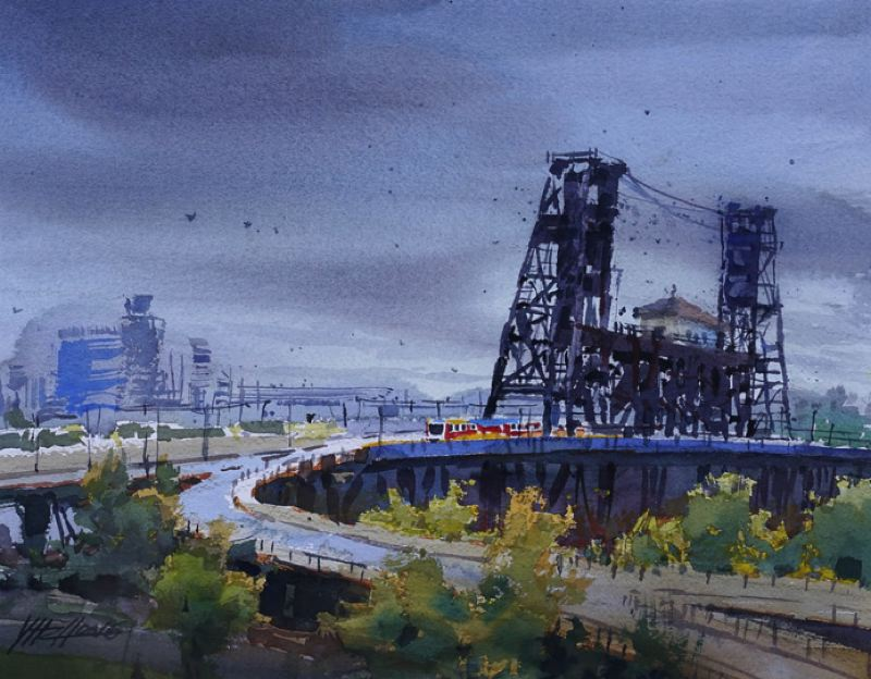 CONTRIBUTED - A painting that is part of the 'Neighborood Associations Rock!' exhibition at the Elisabeth Jones Art Center.