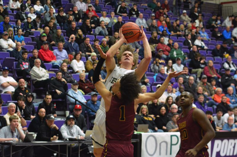 TIMES PHOTO: MATT SINGLEDECKER - Jesuit senior Will Sheaffer had a career-best game in the Class 6A quarterfinals against Central Catholic.