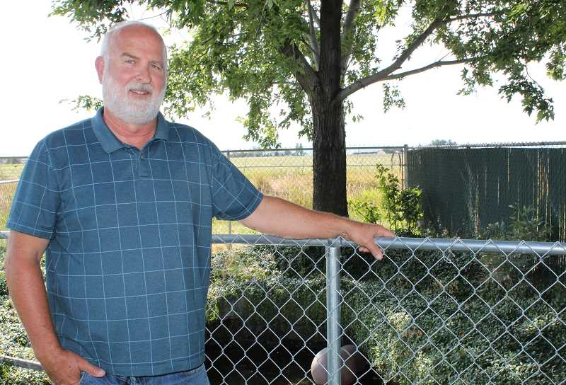 HOLLY M. GILL/MADRAS PIONEER - DVWD Manager Ed Pugh is retiring in August, after a long career with the district. The district has made major strides under Pugh's leadership, including increasing water storage capacity, pipelines and customer base, in the 15 years he has served as manager.