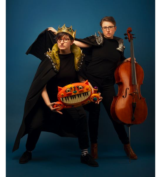 COURTESY PHOTO: KIM NEWMONEY - Siblings Laser Malena-Webber (left) and Aubrey Turner have found much success as The Doubleclicks. The nerd music duo has been funded five times through Kickstarter campaigns since 2014, and Malena-Webber helps other groups attract crowdfunding.