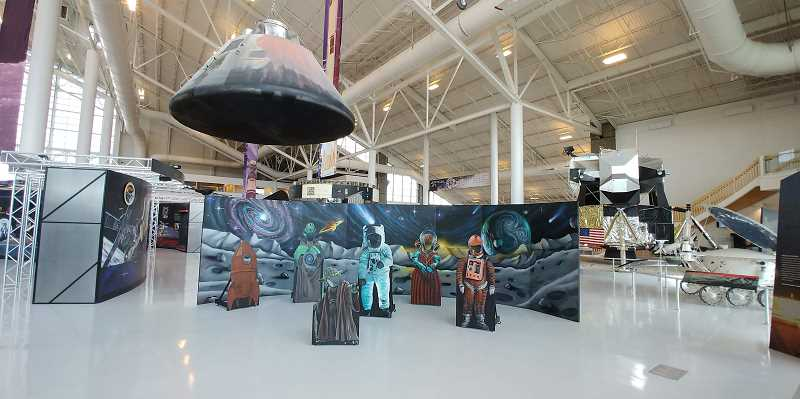 COURTESY PHOTO - WHS student artwork is on display at the Evergreen Air and Space Museum.