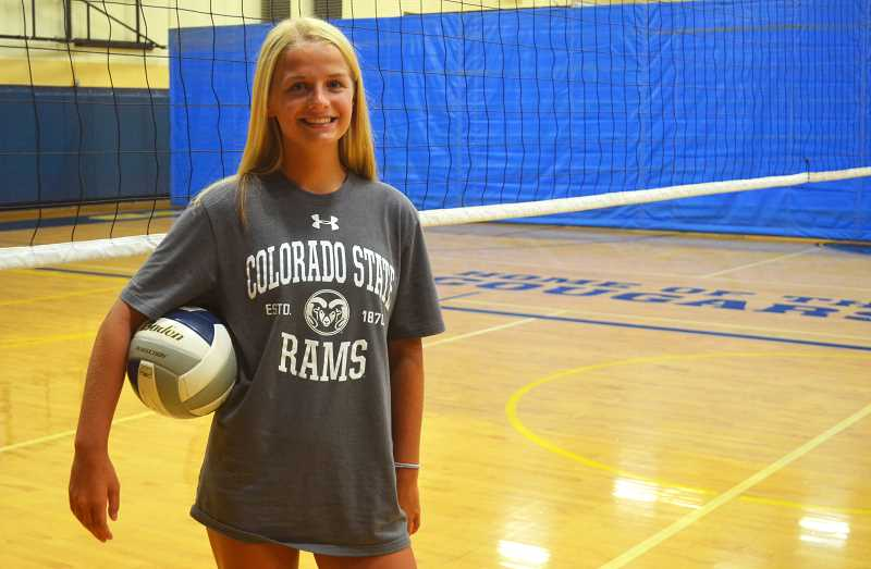 PMG PHOTO: DEREK WILEY - Ruby Kayser, an upcoming senior at Canby High School, has decided to continue her volleyball career at Colorado State University in Fort Collins.