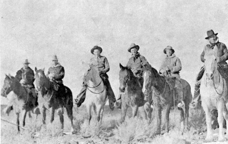PHOTO COURTESY OF BOWMAN MUSEUM - The cattle drive was led by a group of six hired cowboys when it embarked in 1936.