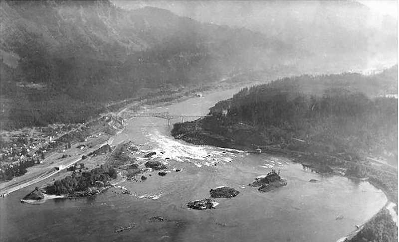 SUBMITTED PHOTO - The top of the Cascade rapids is shown as it appeared in 1929, shot from an airplane flying around 2,000 feet.