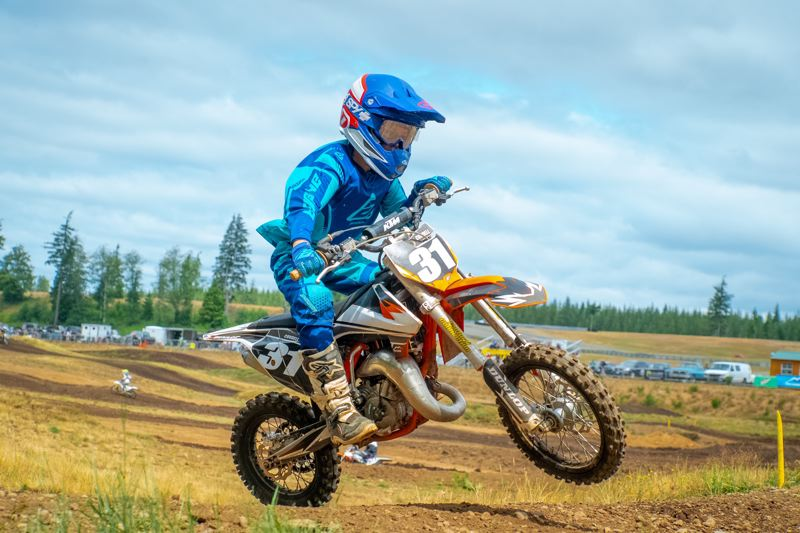 COURTESY PHOTO - Sawyer Cordell, age 9, has been one of the top riders in the 65cc Junior Division at Portland International Raceway.