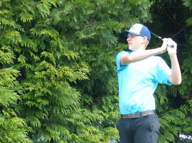 PMG FILE PHOTO: KYLE GARCIA - Scappoose golfer Chase Elliott was in third place after the first round of the Southern Oregon Junior Championship in Medford.