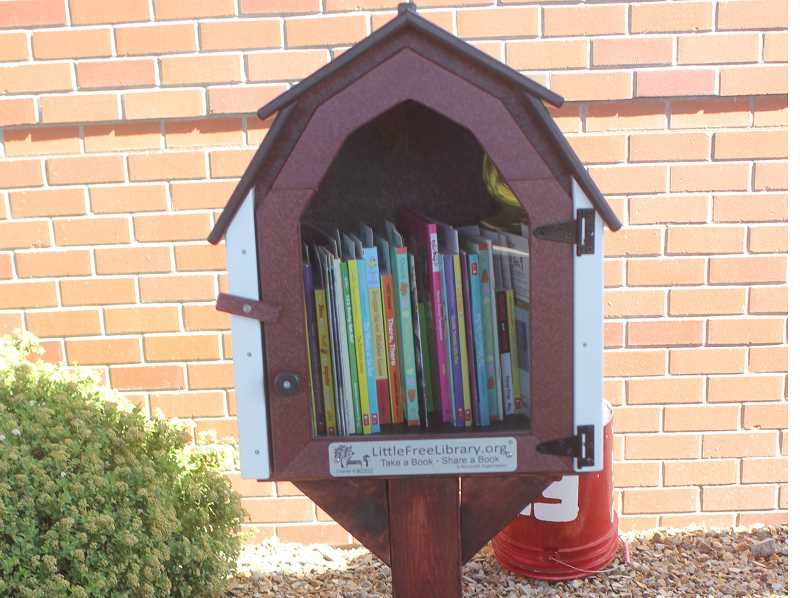 DESIREE BERGSTROM/MADRAS PIONEER - A Little Free Library has been set up outside St. Charles Family Care Madras.