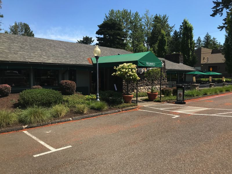 COURTESY: JOE HUGHES CONSTRUCTION - A building that formerly housed McCormick's Fish House in Beaverton is being converted into a Montessori school. A former outdoor patio area is being turned into a secured play area.