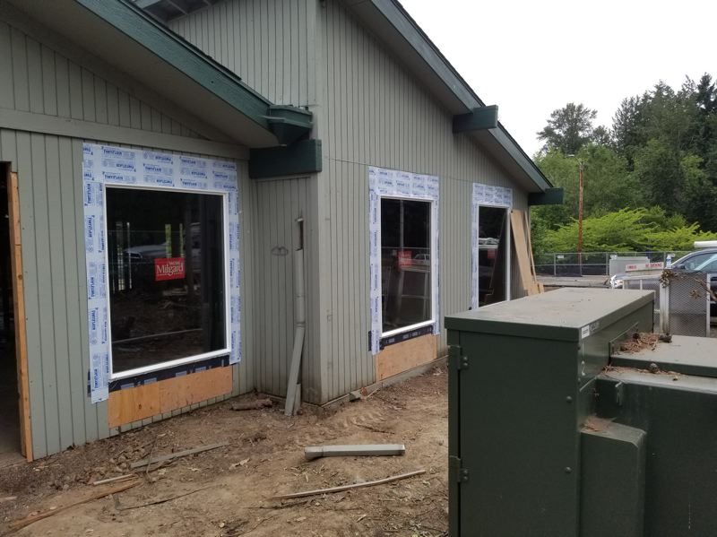 COURTESY: JOE HUGHES CONSTRUCTION -  Windows have been added to an exterior portion of the building,