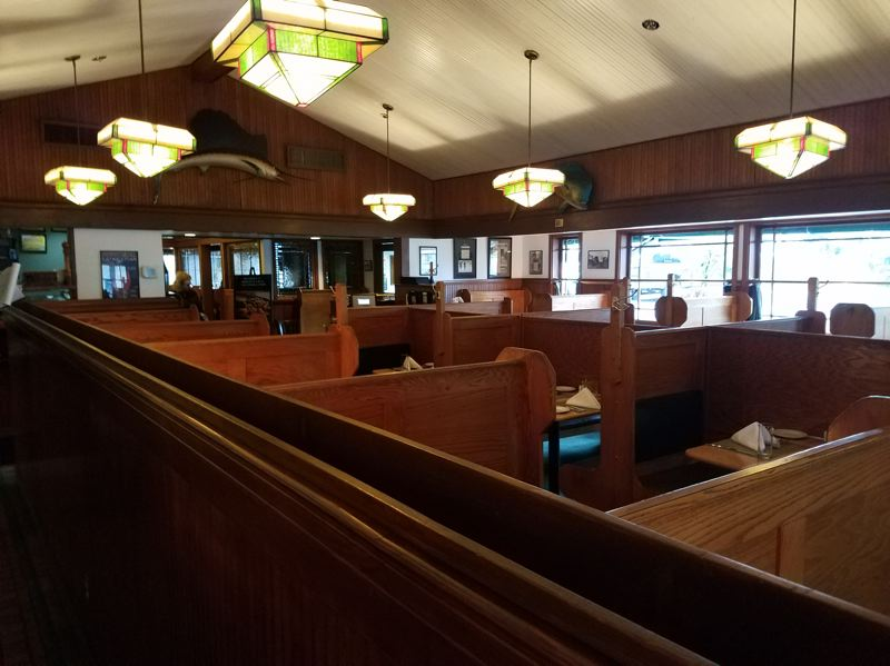 COURTESY: JOE HUGHES CONSTRUCTION - Work on the interior has included removing old fixtures, including stained glass light covers, and seismically upgrading the structure.