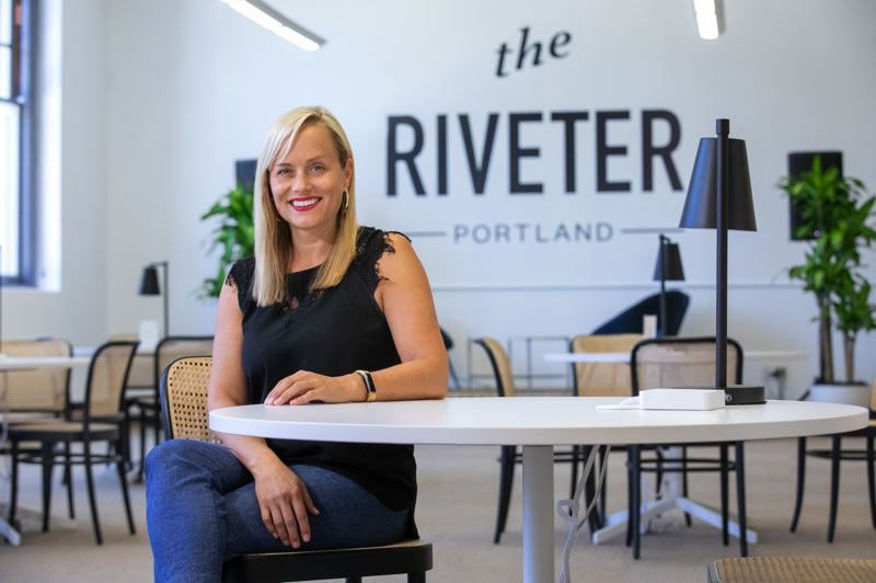 PMG PHOTO: JONATHAN HOUSE - Tami Wood has stepped into the role of general manager at The Riveter, another co-workig space that recently opened in Portland offering geared toward women and others in business looking for more community and support than that that traditionally found in co-working spaces.