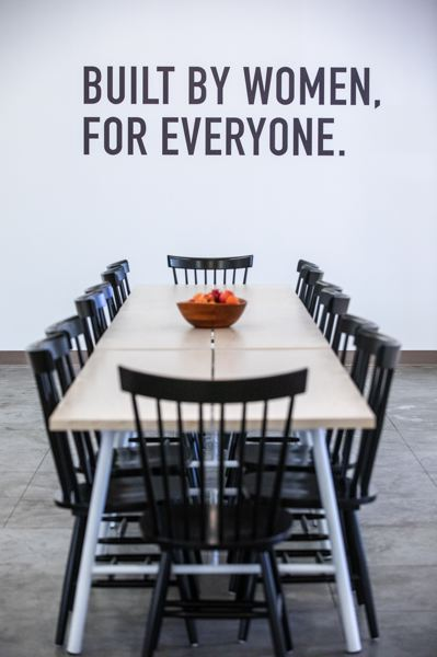 PMG PHOTO: JONATHAN HOUSE - A dining table large enough to accommodate several members at the same time helps create a sense of community at The Riveter.