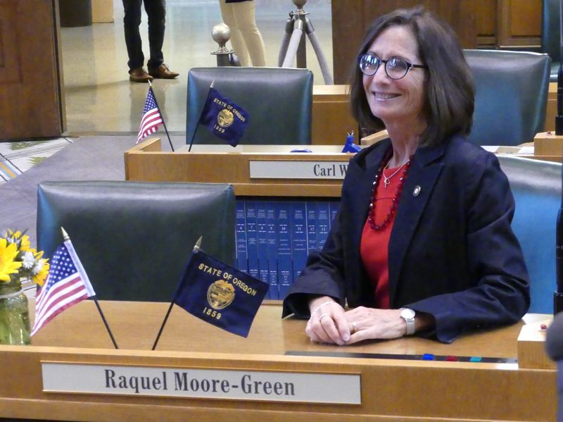 Rep. Raquel Moore-Green, R-Salem, was sworn in Thursday, July 25.