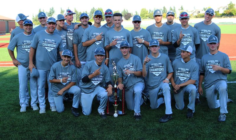 PMG PHOTO: JIM BESEDA - The Clackamas Hammers defeated Tualatin 6-0 in Saturday's championship final of the Oregon Independent Baseball Association state tournament at Tualatin High School.