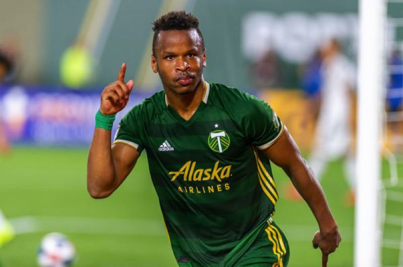 COURTESY PHOTO: DIEGO G. DIAZ - Jeremy Ebobisse reacts after scoring the final goal in a 4-0 Portland Timbers home victory over the Los Angeles Galaxy.