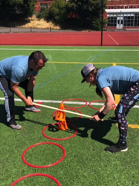 COURTESY: R&H CONSTRUCTION - Many of the Field Day events coordinated by a company called Play.Fit.Fun required collaboration and communication.
